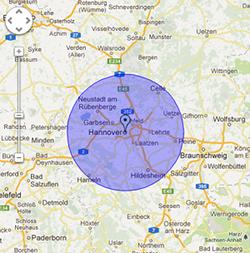 Hannover-Schlüsseldienst-map
