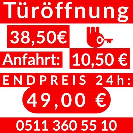 Schlüsseldienst List Hannover Endpreis 49,00 Euro
